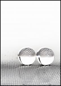 Concept with balls on fantasy background Poster