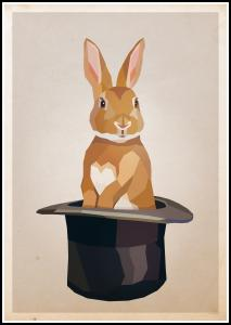 Rabbit in hat Poster