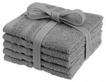 Tvättlapp Basic Frotté - Grå 25x25 cm 5-pack