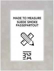 Passepartout Suede Smoke - Måttbeställd