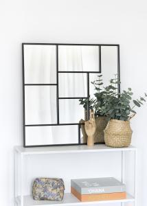 KAILA Spegel Asymetric - Svart 70x70 cm