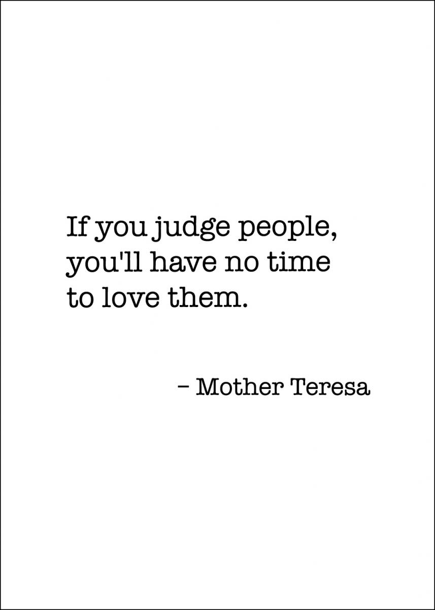 Bildverkstad Mother Teresa Quote
