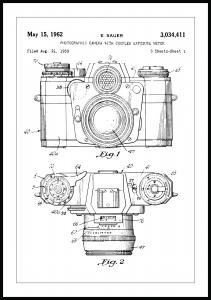Patentritning - Kamera I Poster
