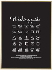 Washing guide - Black Poster