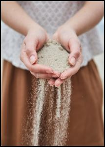 Hand in Sand Poster