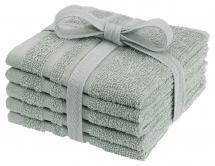 Tvättlapp Basic Frotté - Grön 25x25 cm 5-pack
