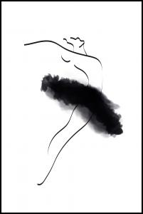 Ballerina Thin Lines Poster