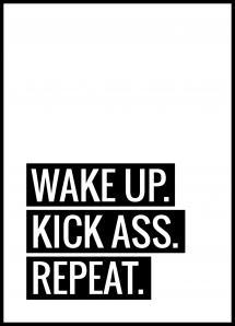 Wake Up Kick Ass Repeat II - Poster