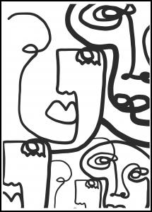 Graphic Faces II Poster