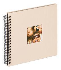 Fun Spiralalbum Sand - 26x25 cm (40 Svarta sidor / 20 blad)