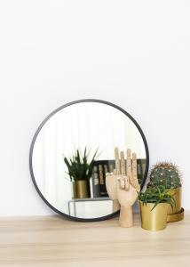 KAILA Rund Spegel Edge Black 40 cm Ø
