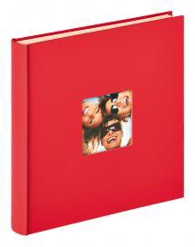 Fun Självhäftande Röd - 33x34 cm (50 Vita sidor / 25 blad)
