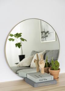 Spegel Vendela Mässing 80 cm Ø