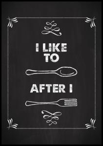 I like to spoon after i fork Poster