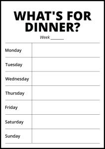 Whats For Dinner II - White Poster