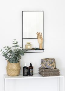 KAILA Spegel med hylla - Svart 31x60 cm