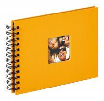 Fun Spiralalbum Gul - 23x17 cm (40 Svarta sidor / 20 blad)