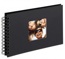 Fun Spiralalbum Svart - 23x17 cm (40 Svarta sidor / 20 blad)