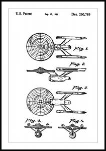 Patentritning - Star Trek - USS Enterprise Poster
