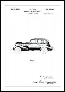 Patentritning - La Salle III Poster