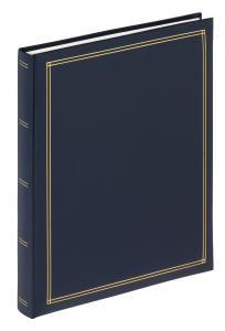 Monza Album Självhäftande Blå - 25x30 cm (30 Vita sidor / 15 blad)
