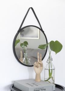 Spegel Trapani Svart 38 cm Ø