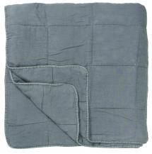 Överkast Vintage Dubbelsäng - Ljusblå 240x240 cm