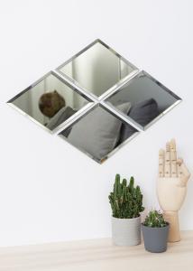 Spegel House Doctor Diamond Grå 16x22 cm