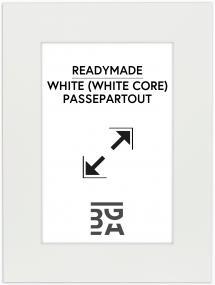 Passepartout Vit (Vit kärna) 30x40 cm (19x29)