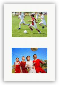 Passepartout Vit 29,7x42 cm - Collage 2 Bilder (14x19 cm)