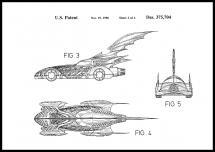 Patentritning - Batman - Batmobile 1996 II Poster