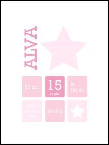 Star Birth Poster Pink