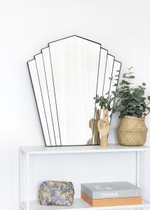 KAILA Spegel Fans - Svart 63x70 cm