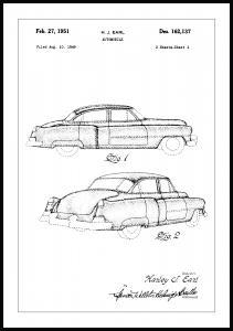 Patentritning - Cadillac I Poster