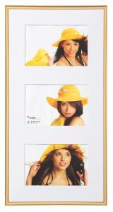 New Lifestyle Collageram Guld - 3 Bilder (10x15 cm)