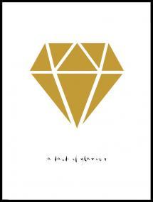 Diamant - Guld Poster