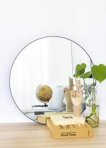 KAILA Round Mirror - Thin Black 60 cm Ø