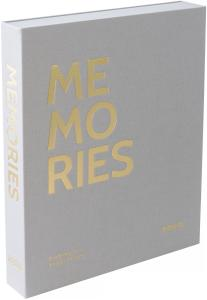 KAILA MEMORIES Grey - Coffee Table Photo Album (60 Svarta Sidor / 30 Blad)
