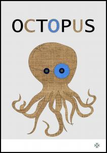 Fabric octopus Poster