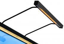 BLP 117 för rambredd 85-110 cm tavelbelysning - Svart