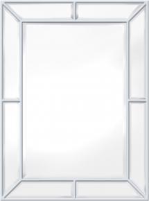 Spegel Pimlico Glass Panelled Wood Misty Vit 79x112 cm