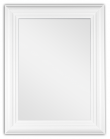 Spegel Siljan Vit - Egna mått