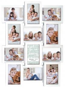 Multiple frame white Collageram - 12 Bilder
