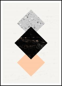 Abstract Squares II Poster