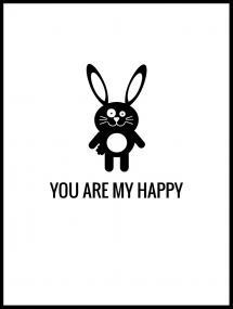 Kanin Happy Poster