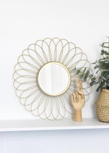 KAILA Spegel Flower - Guld 50 cm Ø