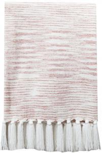 Pläd Sandhamn - Rosa 130x170 cm