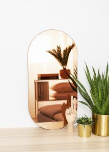 KAILA Spegel Oval Rose Gold 35x70 cm