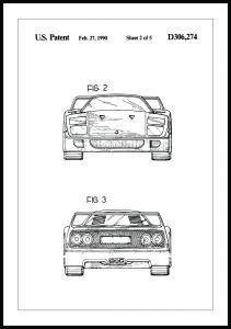 Patentritning - Ferrari F40 III Poster