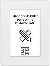 Passepartout Kritvit (Vit kärna) - Måttbeställd